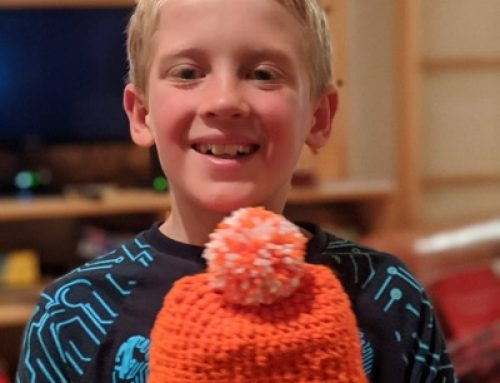 Eight-year-old boy crochets for the Q'ero